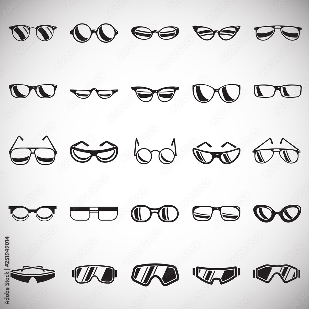 Fototapety, obrazy: Eyeglasses icons set on white background for graphic and web design, Modern simple vector sign. Internet concept. Trendy symbol for website design web button or mobile app