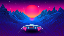 Arcade Space Ship Flying To Th...