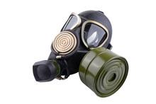 Gas Mask On White Isolated Background