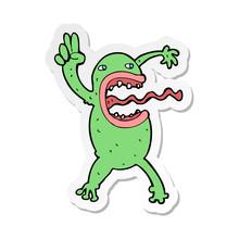 Sticker Of A Cartoon Crazy Frog