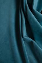 Blue Velvet Fabric Background