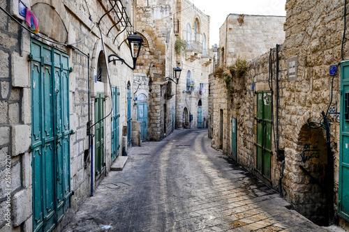Canvas Print Street in Old City of BETHLEHEM, PALESTINIAN TERRITORIES