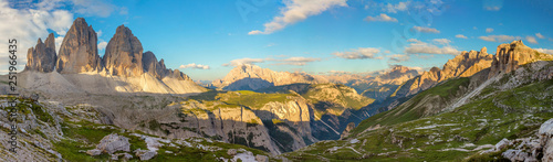 Panorama of Famous Tre Cime di Lavaredo, Dolomites Alps, Italy, Europe Tablou Canvas
