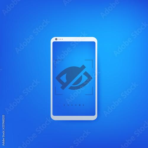 Fotografía  Hidden icon on smartphone screen
