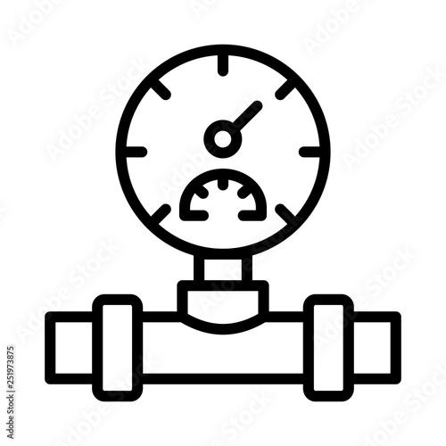Fotografie, Obraz  pressure   pipeline   meter