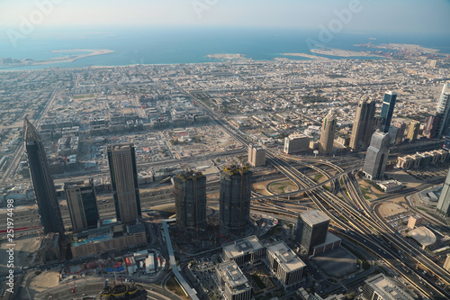 Photo  View on Dubai downtown, United Arab Emirates
