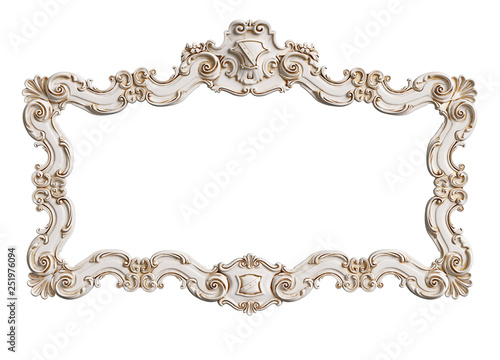 Classic moulding frame with ornament decor Fototapet