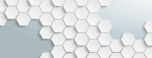 White Hexagon Structure Grey E...