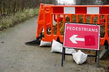 Pedestrians Route Sign