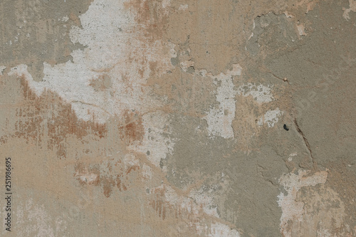 Photo sur Aluminium Vieux mur texturé sale Cracked and peeling paint old wall background.
