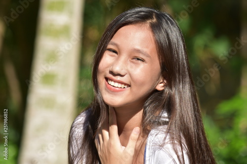 Fototapety, obrazy: Teen Girl And Laughter