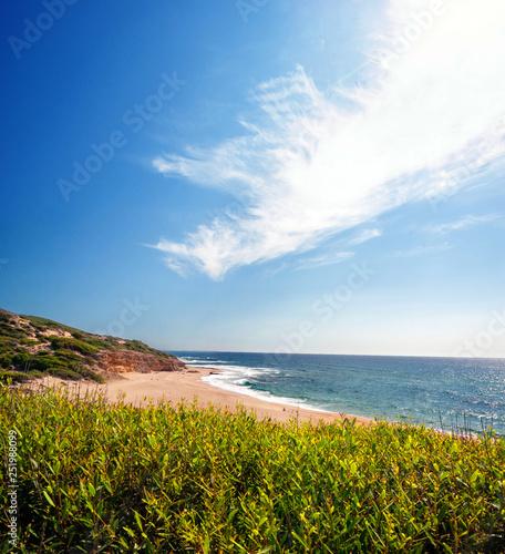 Sardegna, spiaggia e costa di Arbus, Italia Canvas Print
