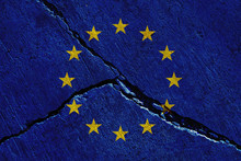 Europe Union Flags Painted Ove...
