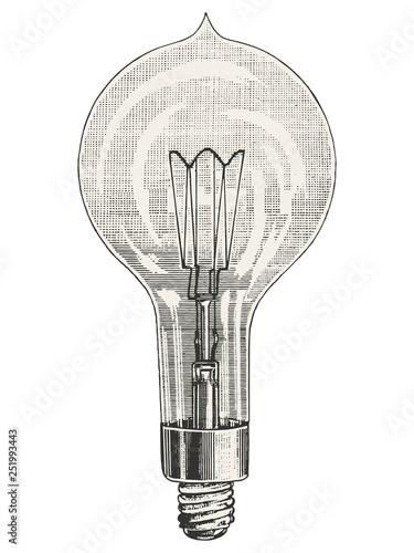 Canvas-taulu Round Light bulb vector illustration