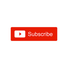 Subscribe Video Channel Button Icon. Vector Illustration. Isolated On White Background.