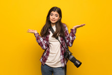 Photographer Teenager Girl Ove...
