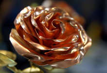 Rose Made Of Copper