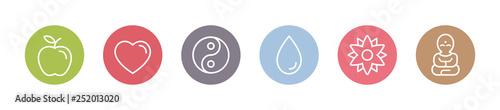 Fotografie, Obraz  Yoga und Gesundheit - Symbole
