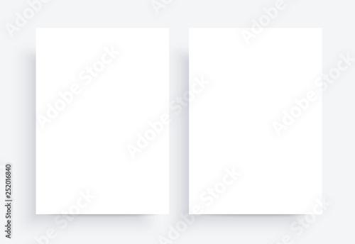 Fotografie, Obraz  Paper Mockups. white blank template. Two sheet A4