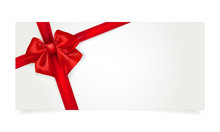 Paper Gift Voucher With Red Bow