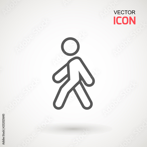man walk icon walking man vector icon people walk sign illustration pedestrian vector sign symbol on white background buy this stock vector and explore similar vectors at adobe stock adobe stock man walk icon walking man vector icon