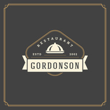 Restaurant Logo Template Vector Illustration Good For Restaurant Menu