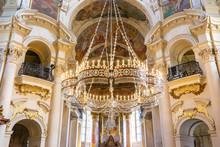 The Ceiling Of St. Nicholas Church, Prague, Bohemia, Czech Republic