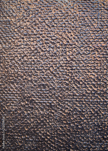 Fotografía  Glossy relief cladding tiles on wall closeup