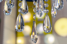 Elements Of Crystal Chandelier In The Interior Of The Store.