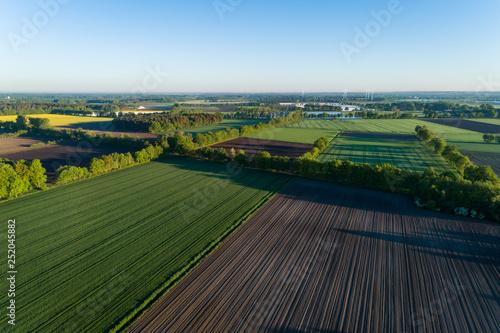 Photo sur Toile Amsterdam Landschaft in Deutschland aus der Luft