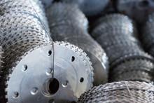 Metal Cutting Blade Closeup