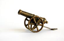 Antique Bronze Miniature Cannon