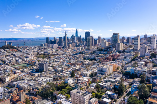 Photo  San Francisco downtown skyline aerial