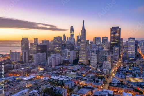 Photo San Francisco downtown skyline aerial
