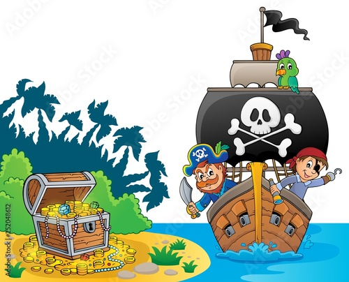 Image with pirate vessel theme 8
