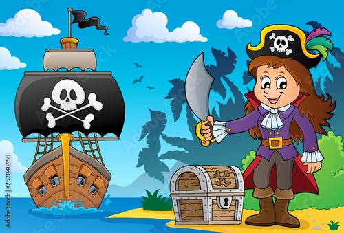 Pirate girl theme image 5