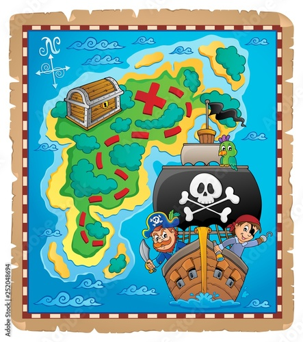 Pirate map theme image 6