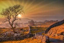 Sunset Across The Yorkshire Da...