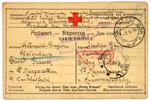 Postcard Of Prisoner Of War