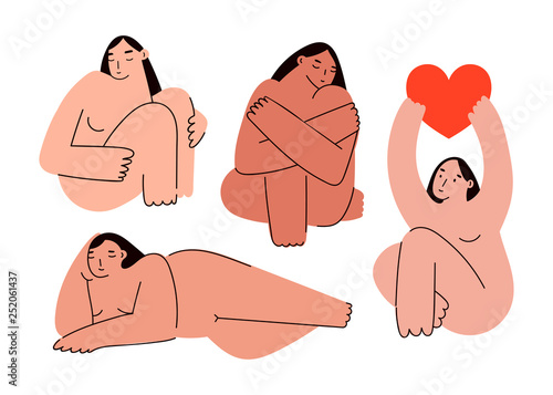 Beautiful plus size women in various poses Canvas Print