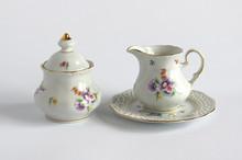 Porcelain Creamer And Sugar Bowl
