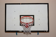Dirty Old Basketball Backboard In The Gym.