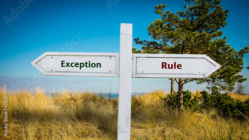 Sign 361 - Exception Canvas Print