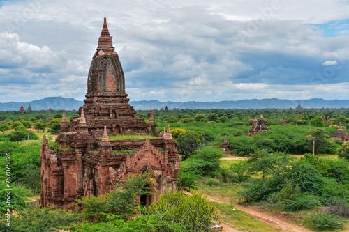 pagoda in bagan myanmar Fototapet