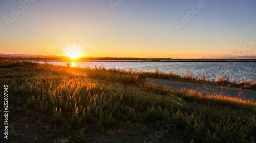 Sunset at the Shoreline Park, Mountain View, San Francisco bay area, California