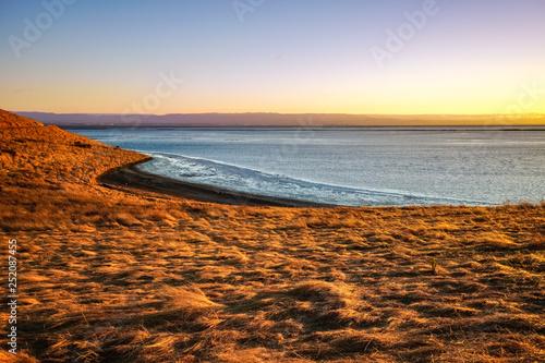 Coyote Hills Regional Park under the sunset light, San Francisco Bay Area, Fremont, California