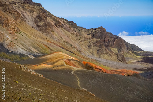Fényképezés Colorful desert landscape in Haleakala National Park, Maui, Hawaii