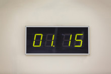 Black Digital Clock On A White...
