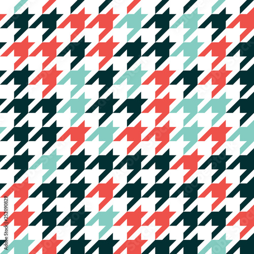 Photographie Hounds tooth - retro geometric pattern for clothing fashion