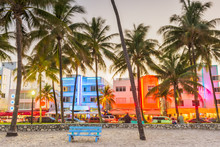 Miami Beach, Florida, USA On O...